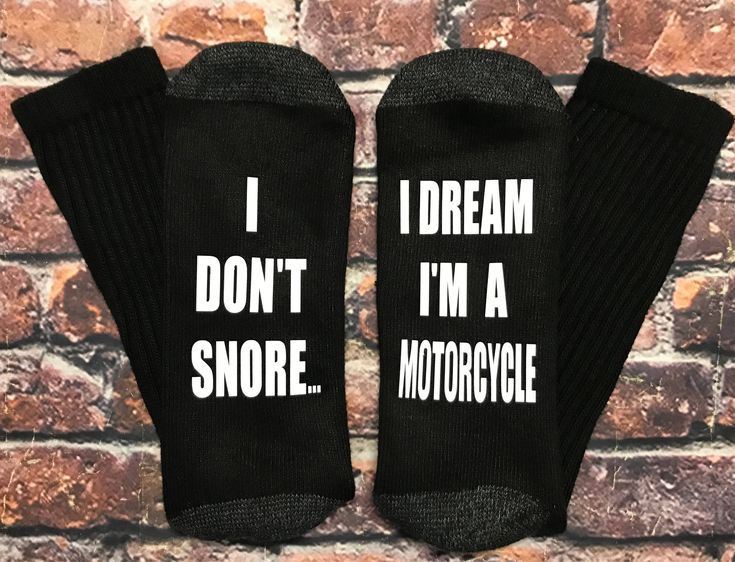 Harley Davidson Inspired Gift I Don't Snore I dream I'm a Motorcycle socks Suzuki Sport Off-road bike rider gift #socks