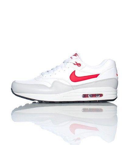 Découvrez les Nouvelles Nike Air Max 1 Cuir Blanc (Ref : Basket Hommes  Running. Les dernières collections de chaussures NIKE Cortez, Nike Air Max,  ...