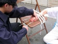 The old bamboo splinters under the fingernail torture. Simple and effective.