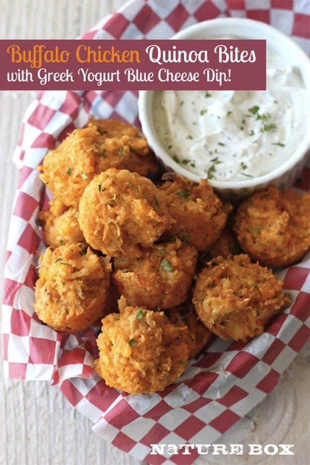 Buffalo Chicken Quinoa Bites | 32 Ways To Eat Quinoa And Succeed In Life