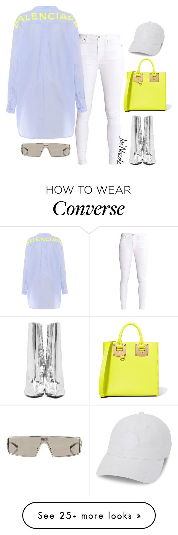 """Jas'Nacole1178"" by jasnacole on Polyvore featuring Balenciaga, Sophie Hulme, Converse and Christian Dior"