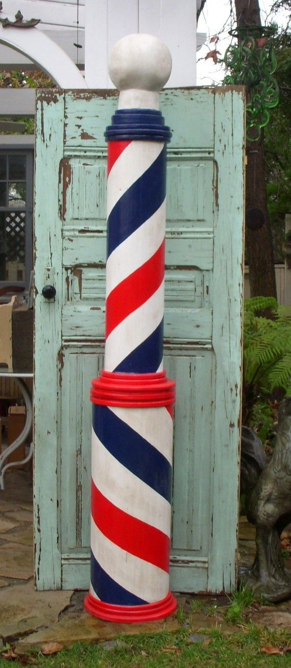 Barber Pole - Wood Barberpole - Handmade - Mikesbarberpoles