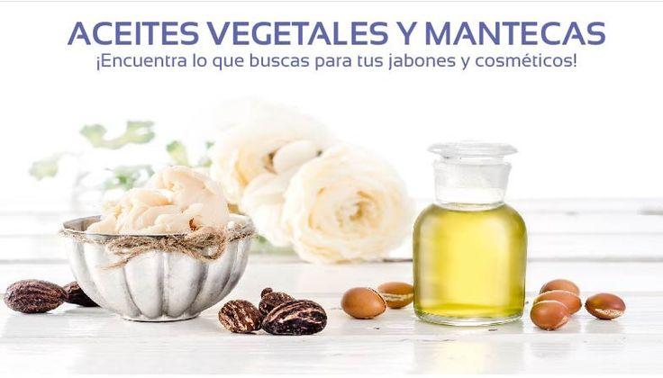Aceites vegetales y mantecas para jabones y cosmética.