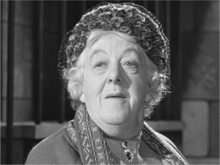 Margaret Rutherford as Miss Marple in Murder Most Foul