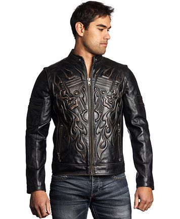 Affliction Rebellious Leather Jacket | macys.com