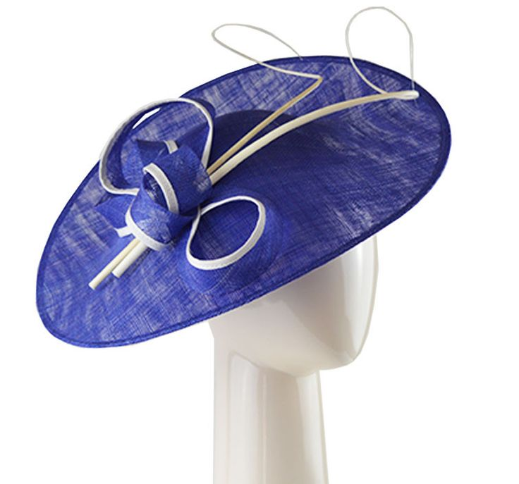 Disc Hat - Royal Blue and Ivory