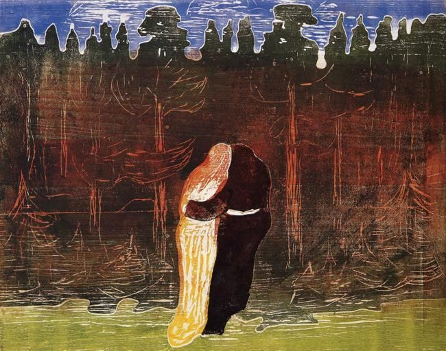 Towards the Forest II, 1915, Edvard Munch Size: 54x64.7 cm Medium: woodcut on board
