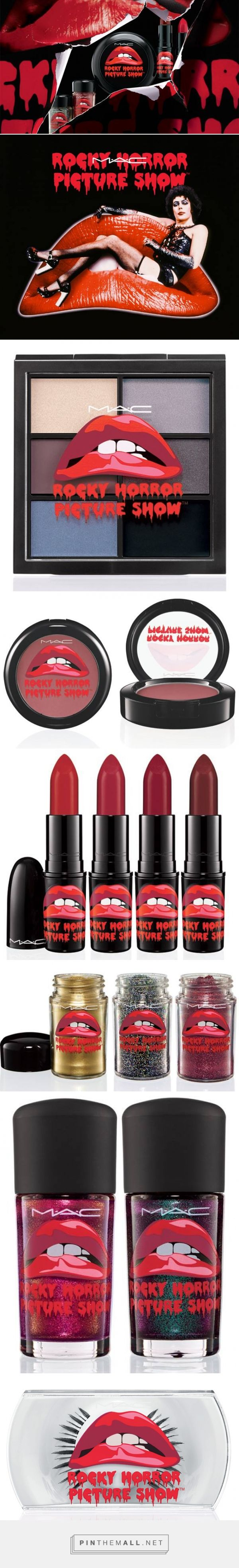 MAC x Rocky Horror Picture Show Fall 2014 Collection via Chic Profile curated by Packaging Diva PD. I love this packaging and perfect for Halloween.