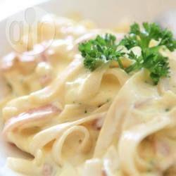 Foto recept: Tagliatelle met gerookte zalm saus