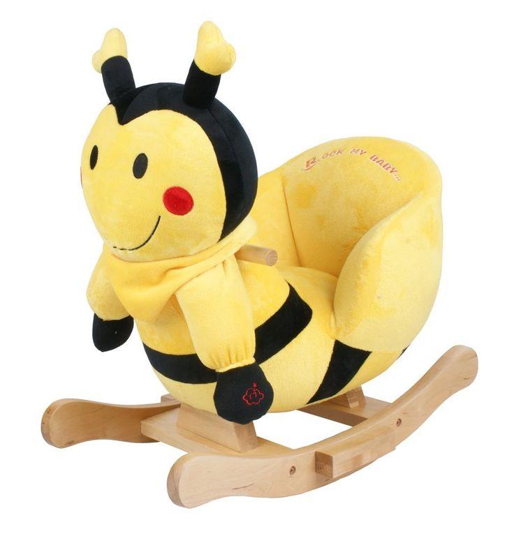 plush toddler rocker bumble bee baby nursery cool bee animal rocking horse