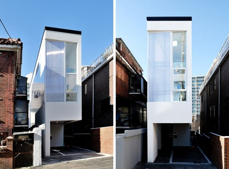 Dubbed Mini House, this narrow home in Seoul, South Korea, has been built for three residents in one of the city's most densely populated areas.