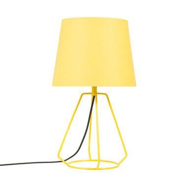 Bordslampa i metalltråd, gul