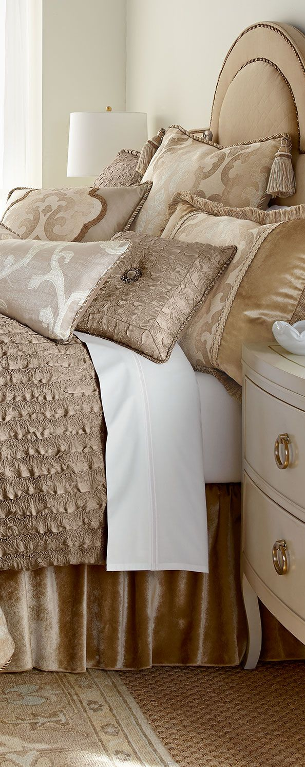 Champagne and Beige. We love this Color trend for 2015 especially in the bedroom