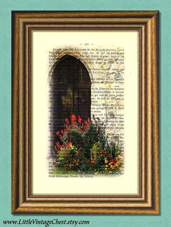 GATE TO HEAVEN  Dictionary Art PrintVintage by littlevintagechest, $7.99