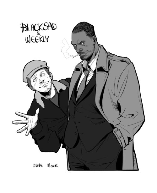 Idris Elba as Blacksad and Simon Pegg as Weekly.