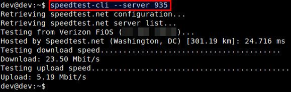 How to check Internet speed from the command line on Linux