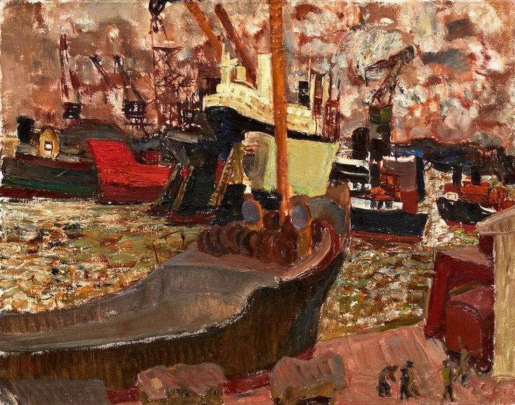 """Gothenburg Harbor"" Vera Nilsson 1888‑1979"
