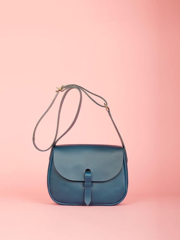 Peggy - Indigo Leather Bag, Mimi Berry SS16