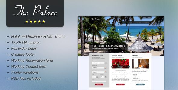 The Palace: Hotel and Business HTML Theme