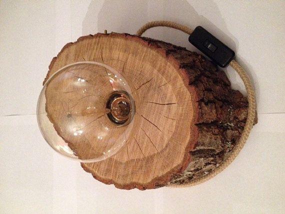 lámpara del tronco por Clairobscurdenature en Etsy