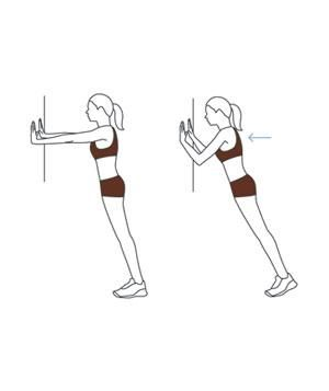 Triceps Workout Move: Standing Wall Push-Up