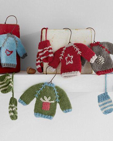 Garnet Hill Knit Sweater Ornaments