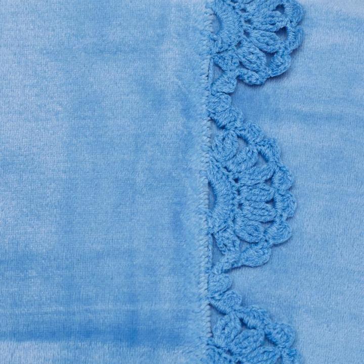 Cottage Collection Crochet Trim Plush Blanket - Twin