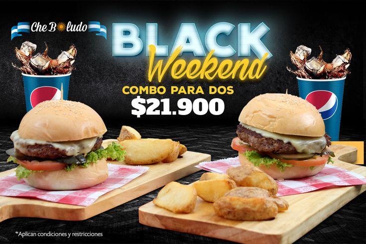 Campaña #blackweekend @cheboludo Barranquilla-Colombia  #hamburger #hamburguesa #graphicdesign #diseñografico #design #food #blackfriday #blackweekend