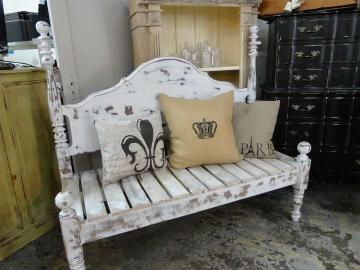 Make All Kinds Of Benches From Head Boards Diy Paint