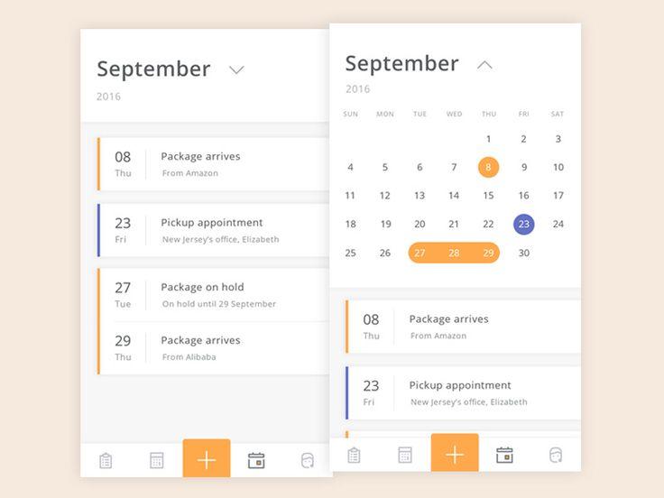 Shipp Calendar - via @designhuntapp