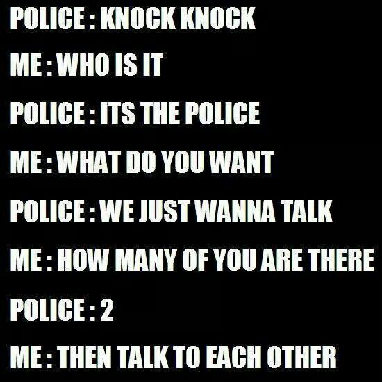 Knock knock joke - Police humor. Cop jokes