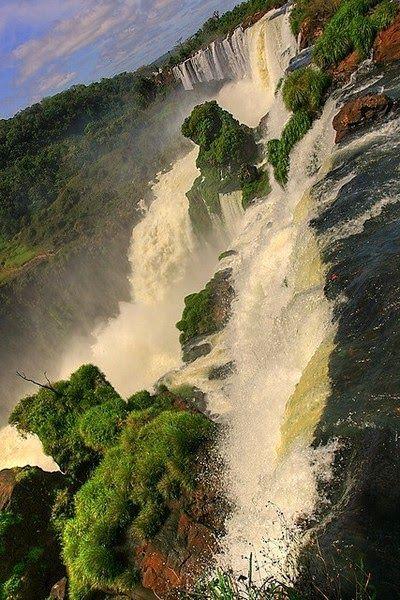 Iguazu Falls Brazilian-Argentinian border   Waterfalls around the World - Photo Stackz
