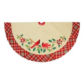 Northlight 48-In Off-White Polyester Traditional Christmas Tree Skirt
