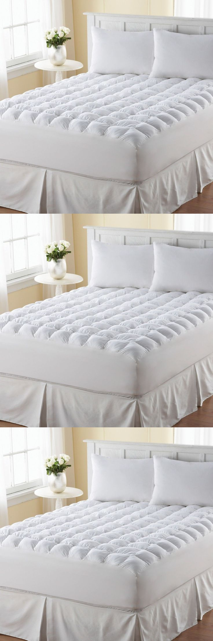 Mattress Pads and Feather Beds 175751: Pillow Top Mattress Topper King Size  Pad Cover Protector