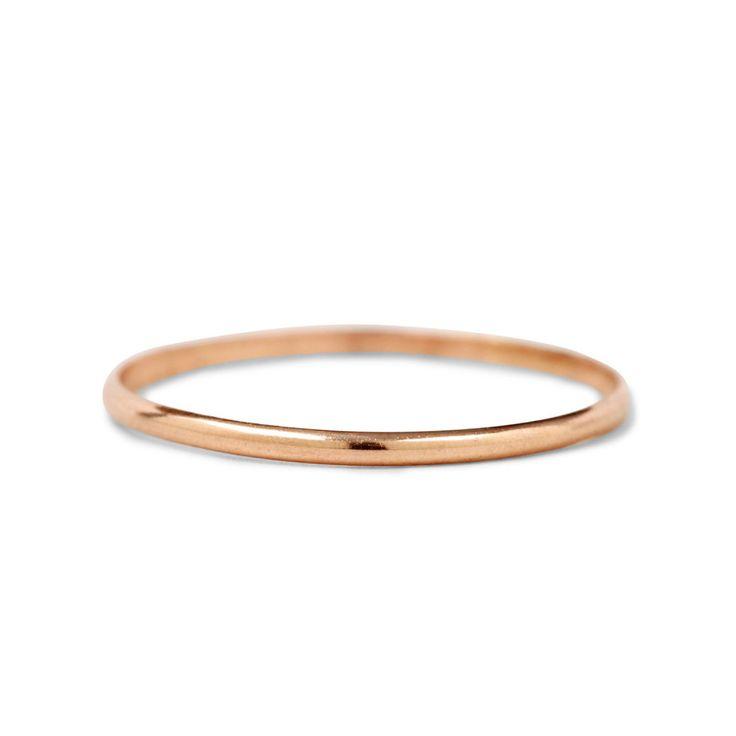 14K Gold Thin Gold Ring
