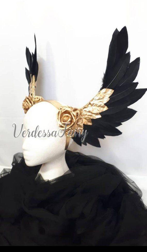 b09f7df94 Greek or Roman Goddess Winged headpiece. Valkyrie Wings Headdress ...