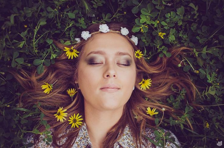WHAT A BEAUTY! Photography done by Joshua Hew, Makeup done by myself. #flowers #blonde #wreath #nature #princess #green #blueeyes #eyes #inspiration