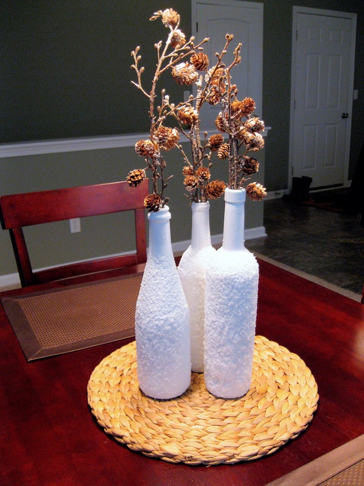 DIY Wine Bottle Christmas Decor