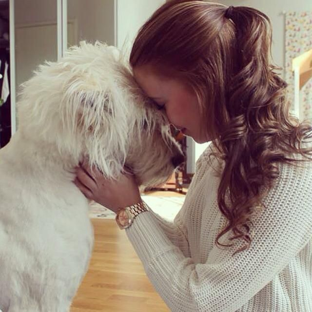 My sweet daughter and her dog <3