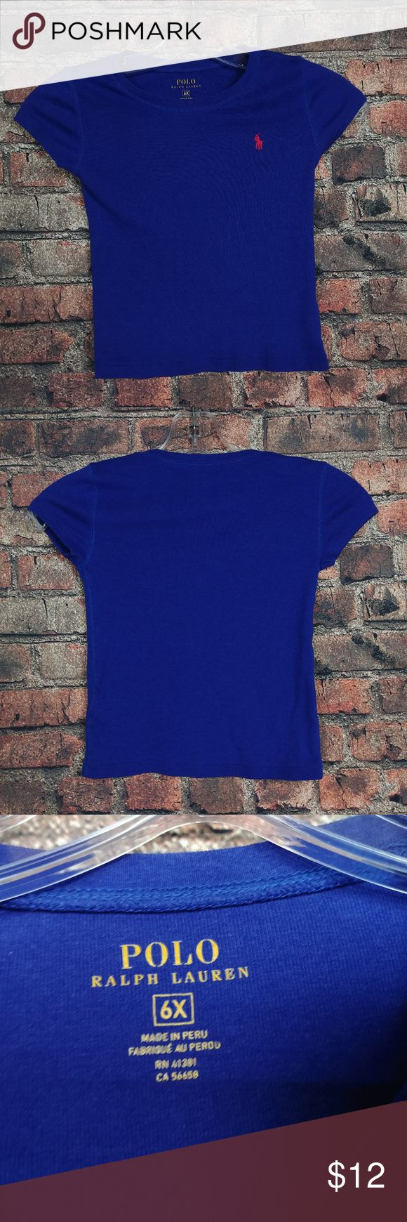 Polo Ralph Lauren T Shirt Top Size 6X Youth Girls Polo Ralph Lauren T Shirt Top Size 6X Youth Girs Blue Red Pony SOFT CUTE SS :P2.94:L31:15-18  Good Condition! (See Photos). Polo by Ralph Lauren Shirts & Tops Tees - Short Sleeve