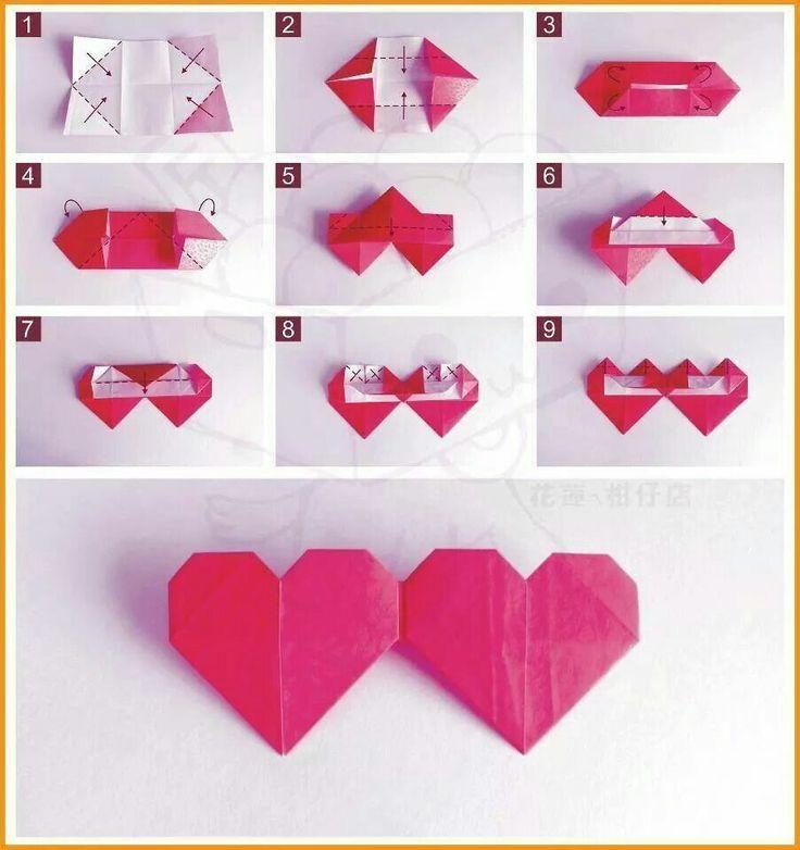 Открытка с сердцем своими руками оригами