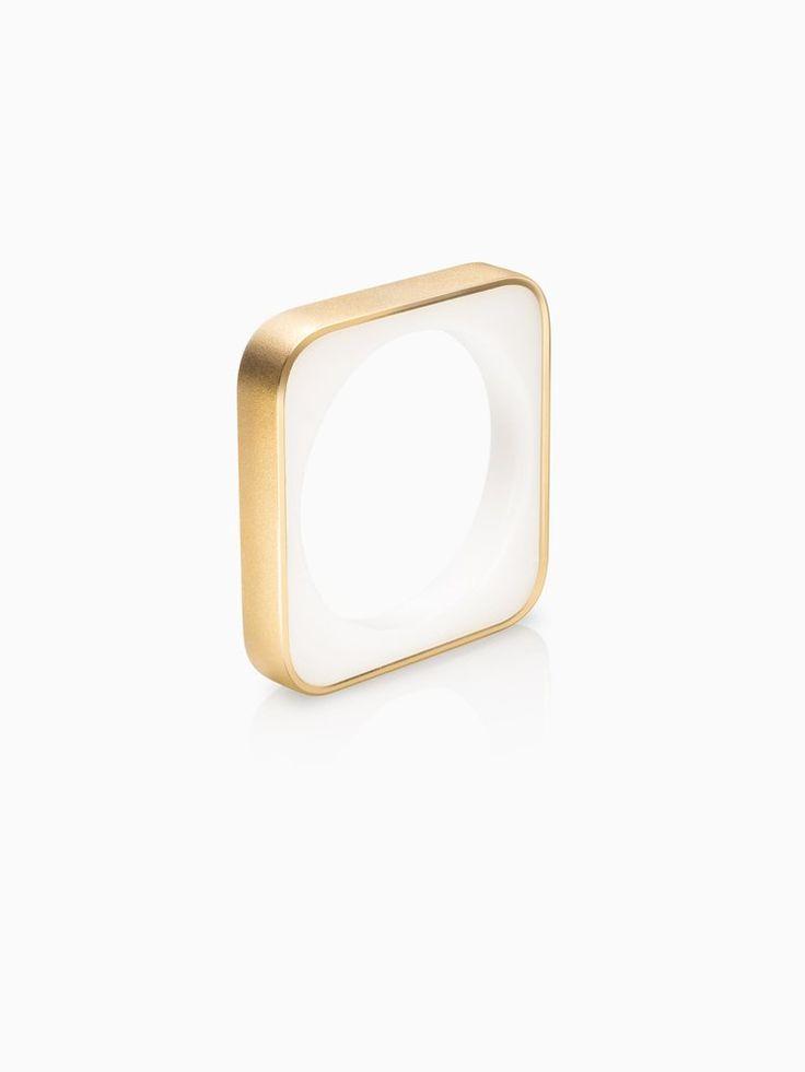 Frames Ring Square Slim Fairtrade Gold