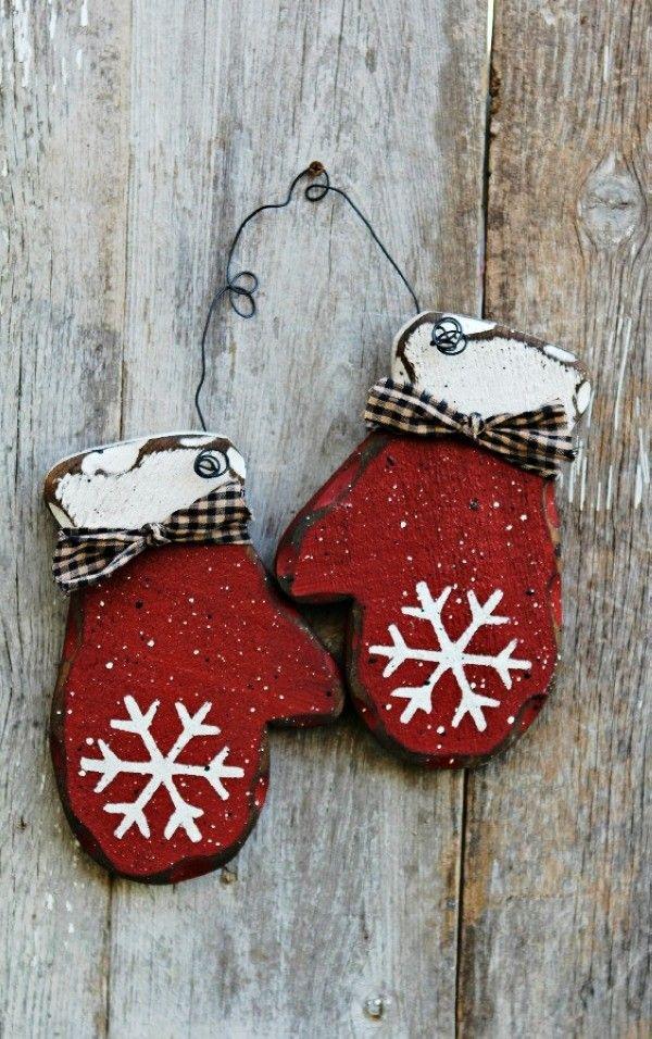 Primitive Wood Holiday Christmas Decor Ideas, 2013 Chirstmas Rustic Winter Decor…