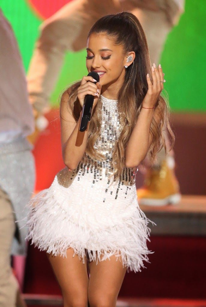 Ariana Grande performing at A  Very Grammy Christmas