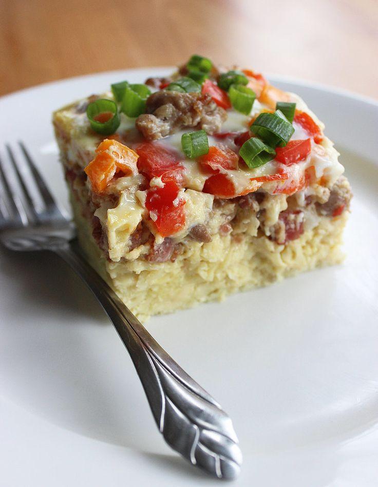 Healthy Overnight Breakfast Casserole