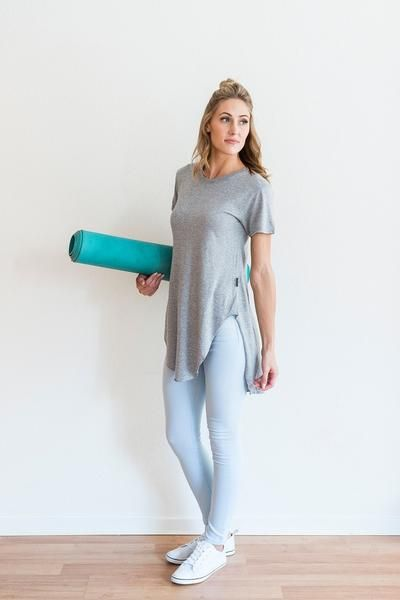 GREY JOHNNY TEE from ethical fashion brand FREE LABEL