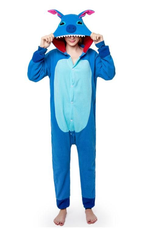 abcbe5ce4d New Blue Stitch Onesie Cartoon Pajamas Womens Cosplay Hallween Costume