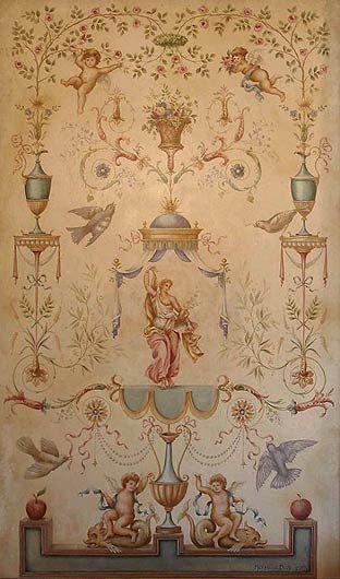 Michael J. Duté muralist - arabesque style