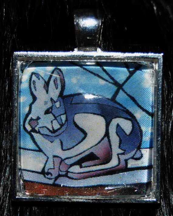 Arctic Hare Pendant by KabloonaKreations on Etsy, $18.00