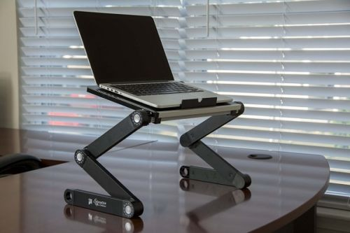 Portable Laptop Desk Adjustable Legs Aluminum Stand Table Tray Projector Dinner  in Computers/Tablets & Networking, Laptop & Desktop Accessories, Stands, Holders & Car Mounts | eBay